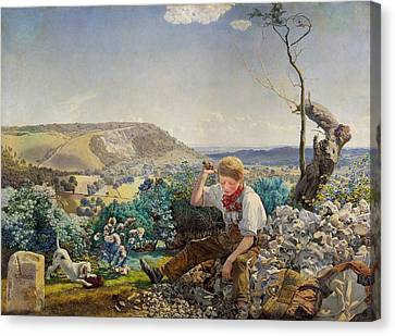 The Stonecutter Canvas Print by Mountain Dreams
