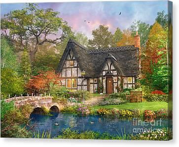 Manor Canvas Print - The Stoney Bridge Cottage by Dominic Davison