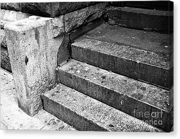 The Stoop Mono Canvas Print by John Rizzuto