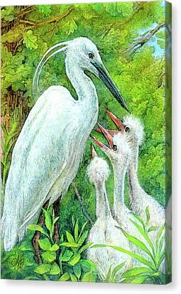 The Stork - A Symbol Of Childbirth Canvas Print by Natalie Berman
