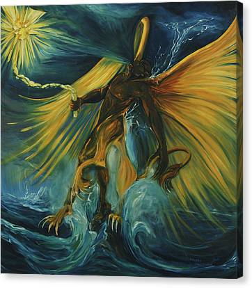 Aquarian Canvas Print - The Storm Eater by Jennifer Christenson