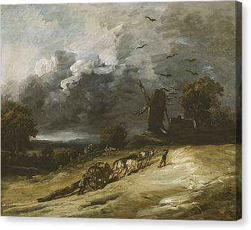 The Storm Canvas Print by Georges Michel