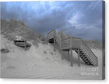 Canvas Print featuring the photograph The Storm Is Here by Linda Mesibov