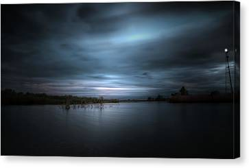 Canvas Print featuring the photograph The Storm by Mark Andrew Thomas