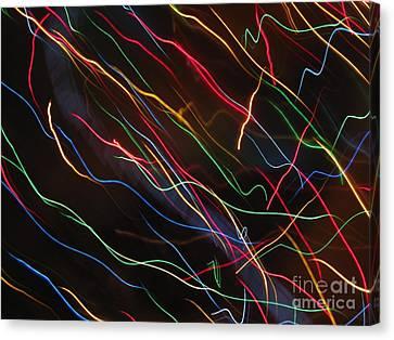 Canvas Print featuring the photograph The Storm Of Falling Stars. Dancing Lights Series by Ausra Huntington nee Paulauskaite