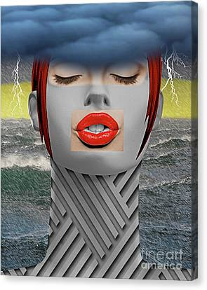 The Storm She Is A Coming Canvas Print by Keith Dillon