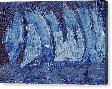Canvas Print featuring the painting The Storm by Xn Tyler