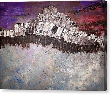 The Stormy Sea Shore Canvas Print by Roy Penny
