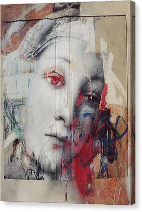 Contemporary Abstract Canvas Print - The Story Inyour Eyes  by Paul Lovering