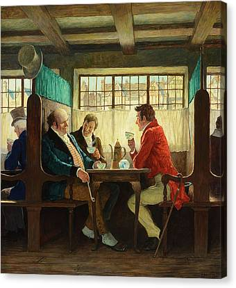 N.c Canvas Print - The Story Of Coffee by N  C  Wyeth