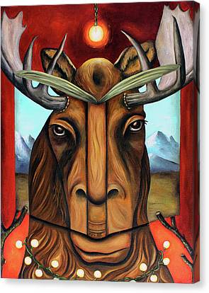 The Story Of Moose Canvas Print by Leah Saulnier The Painting Maniac