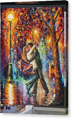 The Story Of The Umbrella Canvas Print by Leonid Afremov