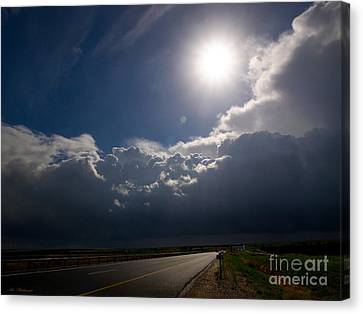 The Straight Way To The Storm Canvas Print by Arik Baltinester
