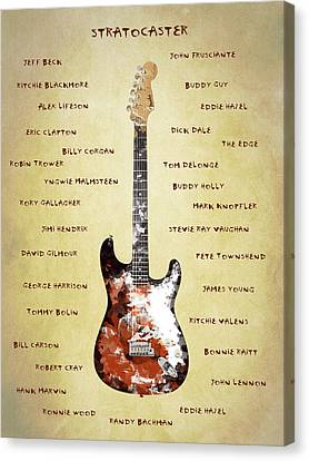 The Stratocaster Guitarists Canvas Print by Mark Rogan