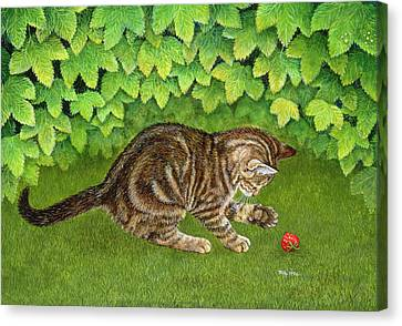 The Strawberry Kitten Canvas Print