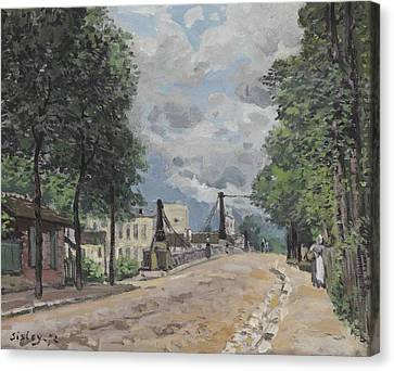Gennevilliers Canvas Print - The Street At Gennevilliers by MotionAge Designs