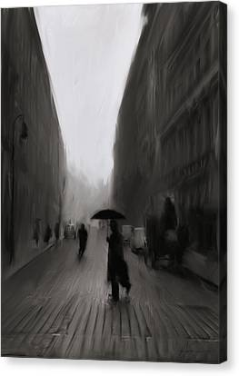 The Street Of Forgotten Men Canvas Print by H James Hoff