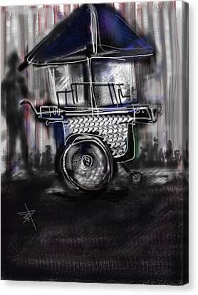 The Street Vendor Canvas Print