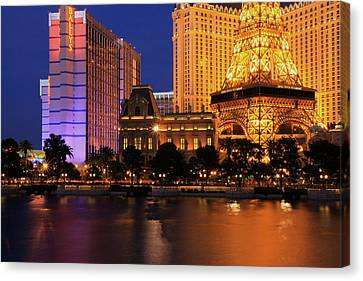 The Strip At Night 1 Canvas Print by Don MacCarthy