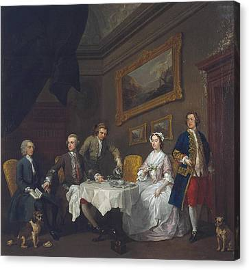 The Strode Family Canvas Print by William Hogarth