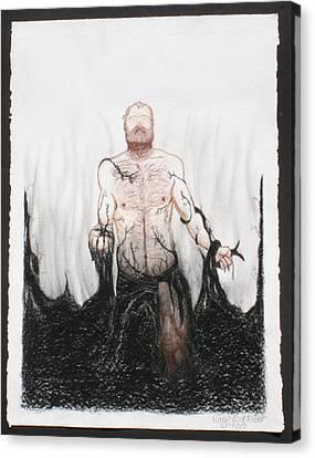 The Struggle Canvas Print by Raymond Bucklew