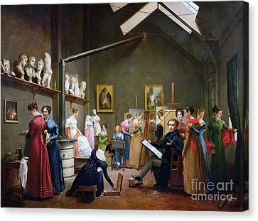 Marie-louise Canvas Print - The Studio Of Abel De Pujol by MotionAge Designs