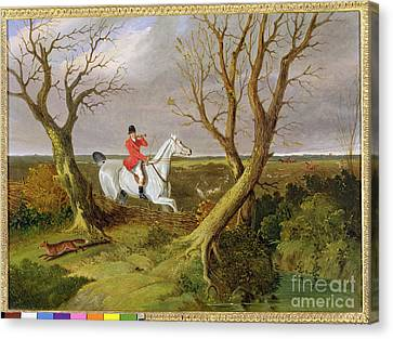The Suffolk Hunt - Gone Away Canvas Print by John Frederick Herring Snr