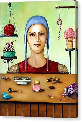 The Sugar Addict Canvas Print by Leah Saulnier The Painting Maniac