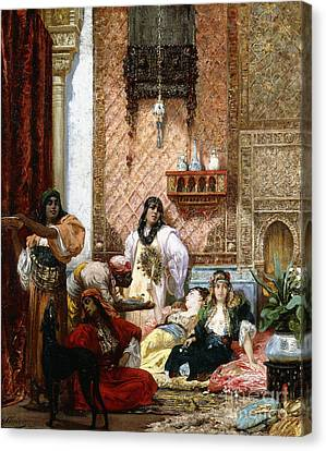 The Sultan's Favorites, 1875  Canvas Print by Georges Clairin