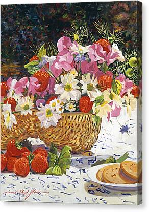 The Summer Picnic Canvas Print by David Lloyd Glover