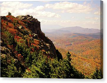 Canvas Print featuring the photograph The Summit In Fall by Meta Gatschenberger