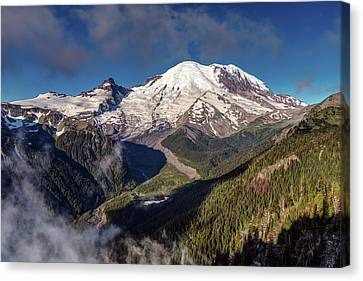 The Summit Of Mount Rainier Canvas Print by Pierre Leclerc Photography