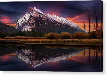 Canvas Print featuring the photograph The Sun Also Rises by John Poon