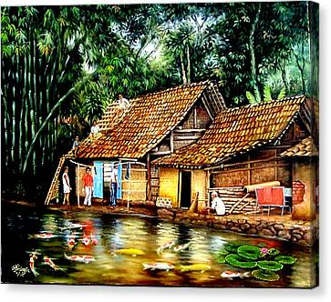The Sun Does Not Forget A Village Just Because It Is Small  Canvas Print by Yuki Othsuka