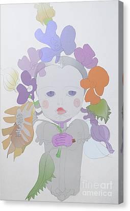 The Sun Flower Child Fairy Canvas Print by Iordache Alice