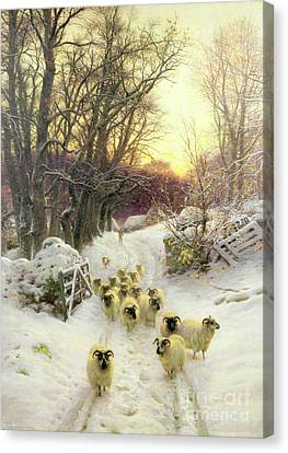 The Sun Had Closed The Winter's Day  Canvas Print