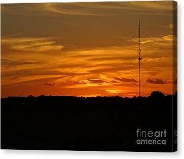 Mystic Setting Canvas Print - The Sun Has Set In Cape Cod by Gina Sullivan