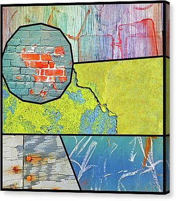Sun Like A Brick Wall Canvas Print