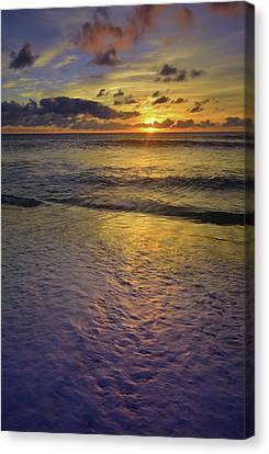 Canvas Print featuring the photograph The Sun Sets Softly In Molokai by Tara Turner