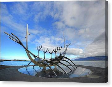 The Sun Voyager - Reykjavik Canvas Print by Joana Kruse