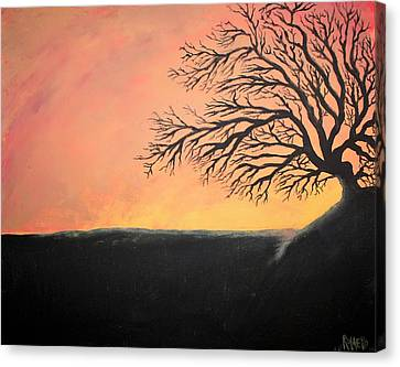 The Sun Was Set Canvas Print by Antonio Romero