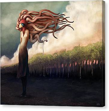 The Sundered Canvas Print by Ethan Harris
