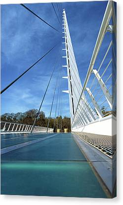Canvas Print featuring the photograph The Sundial Bridge by James Eddy
