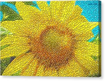 The Sunflower - Da Canvas Print