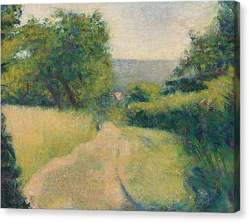 The Sunken Lane Canvas Print by Georges Pierre Seurat