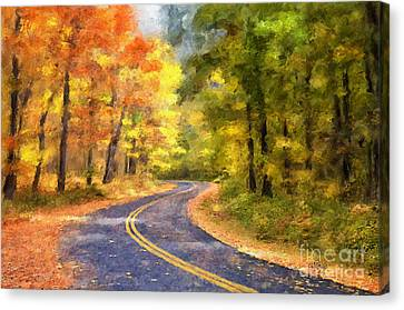 The Sunny Side Of The Street Canvas Print by Lois Bryan