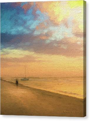 The Sunset Arrival Canvas Print