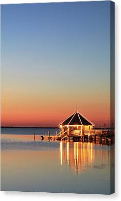 The Sunset Grill Canvas Print by Lori Deiter