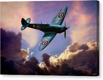 The Supermarine Spitfire Canvas Print by Chris Lord