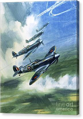 The Supermarine Spitfire Mark Ix Canvas Print by Wilfred Hardy